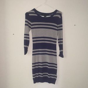 French Connection Blue Striped Dress